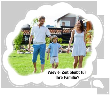 Wieviel Zeit bleibt für Ihre Familie?